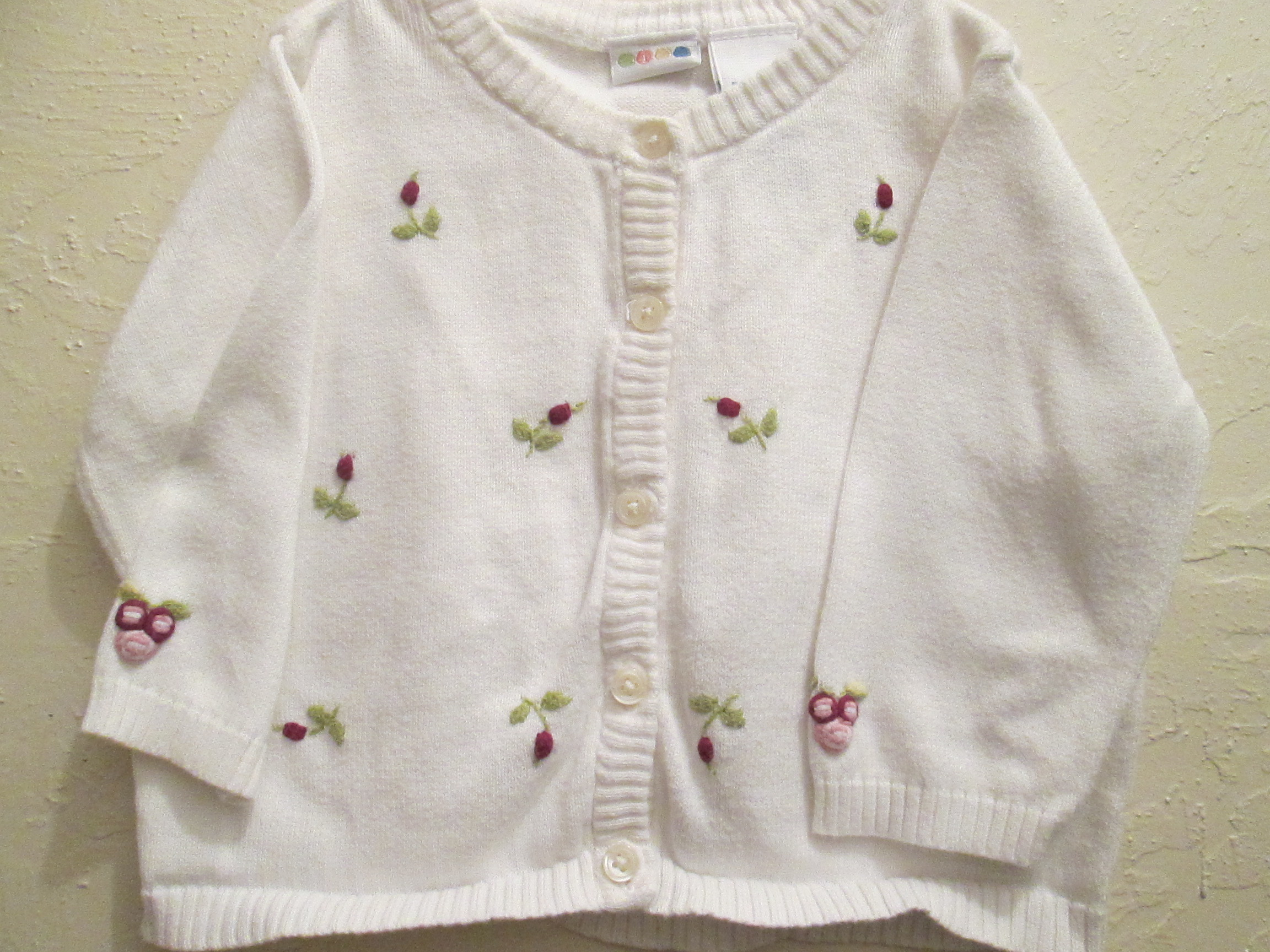 2000 Baby Cardigan with Roses Gymboree Lines Gymboree Lines Discuss